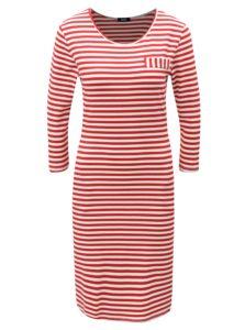 Bielo-červené pruhované šaty s vreckami ZOOT