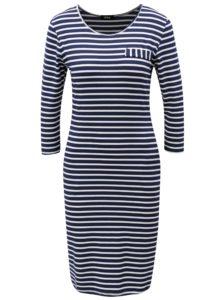 Bielo-modré pruhované šaty s vreckami ZOOT