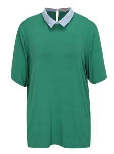 5eb154b3fcb3 Zelené tričko s golierikom La femme MiMi