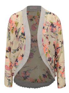 Béžové kvetované priesvitné kimono La femme MiMi