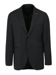 Tmavosivé oblekové vlnené sako Good Son