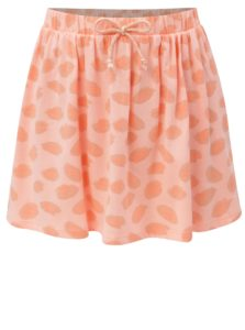 Ružovo-oranžová vzorovaná sukňa so zaväzovaním 5.10.15.