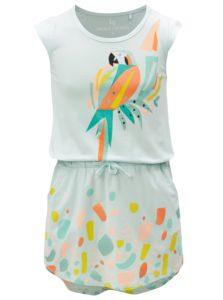 Svetlozelené šaty s potlačou papagája 5.10.15.