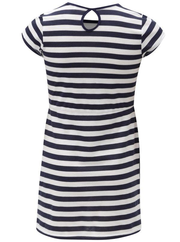 Bielo-modré pruhované šaty s vreckami 5.10.15.