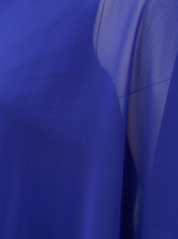Modrá asymetrická blúzka Billie & Blossom Curve