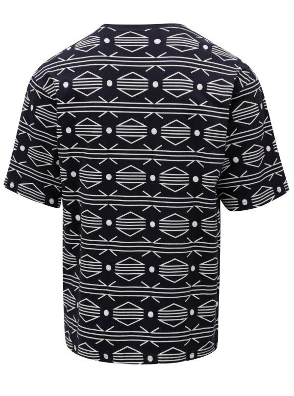 Tmavomodré vzorované tričko ONLY & SONS African