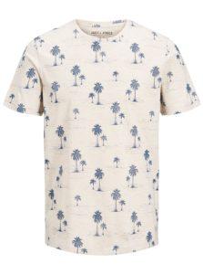 Béžové tričko s potlačou Jack & Jones Jason