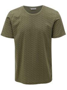 Kaki vzorované tričko Casual Friday by Blend