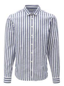 Bielo–modrá pruhovaná slim fit košeľa Casual Friday by Blend