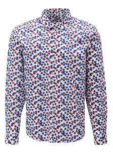 Biela vzorovaná slim fit košeľa Casual Friday by Blend