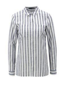 0d08ad32616a Bielo-modrá pruhovaná košeľa Dorothy Perkins