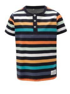 Tmavomodré chlapčenské pruhované tričko s gombíkmi name it Jeppe