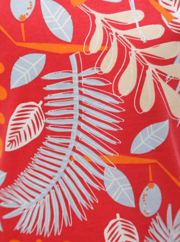 Červené dievčenské tielko so vzorom kvetov name it Vigga