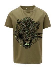 Khaki chlapčenské vzorované tričko name it Kuba