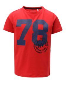 Červené chlapčenské tričko s potlačou name it Ted