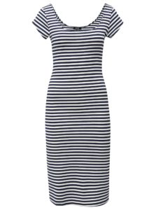 Bielo-modré pruhované šaty s krátkym rukávom ZOOT