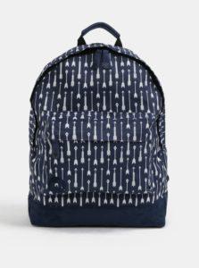 Tmavomodrý vzorovaný vodovzdorný batoh Mi-Pac Arrows