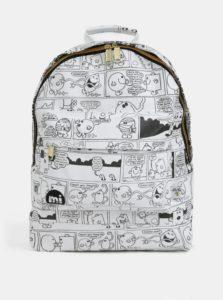 Čierno-biely vodovzdorný batoh s komiksom Mi-Pac Gold Vintage Strips