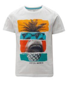 Biele chlapčenské tričko s potlačou 5.10.15.