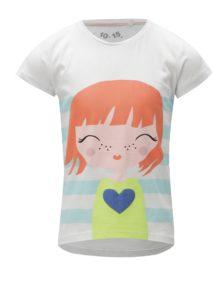 Modro-biele vzorované dievčenské tričko 5.10.15.
