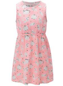Ružové dievčenské vzorované šaty 5.10.15.