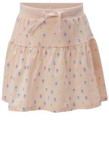 Svetloružová dievčenská vzorovaná sukňa 5.10.15.