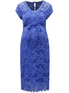 Modré čipkované tehotenské šaty Mama.licious New mivana