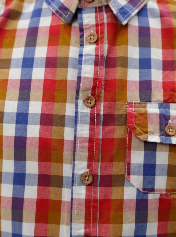 Modro-červená chlapčenská kockovaná košeľa 5.10.15.