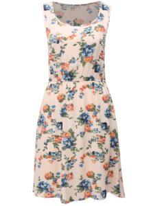 Svetloružové kvetované šaty na ramienka Haily´s Amalia