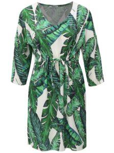 Bielo-zelené vzorované šaty s 3/4 rukávom Haily´s Linea