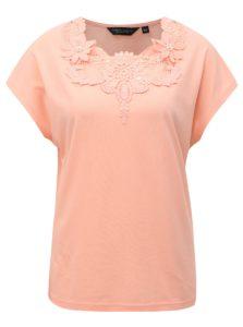 Marhuľové tričko s čipkou Dorothy Perkins