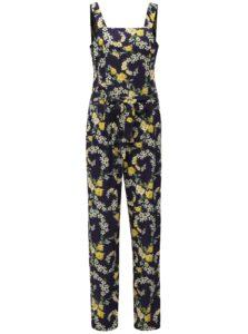 Tmavomodrý kvetovaný overal s opaskom Dorothy Perkins Tall 432b5d23fbb