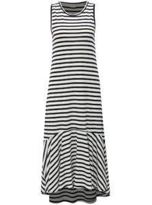 Modro-biele pruhované šaty Jacqueline de Yong