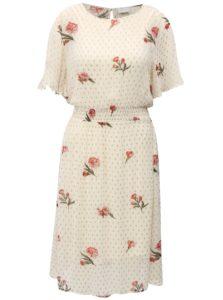 Krémové kvetované šaty VILA Alondra