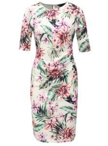 Biele puzdrové šaty s kvetovaným vzorom Dorothy Perkins