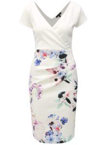 Biele kvetované puzdrové šaty Dorothy Perkins