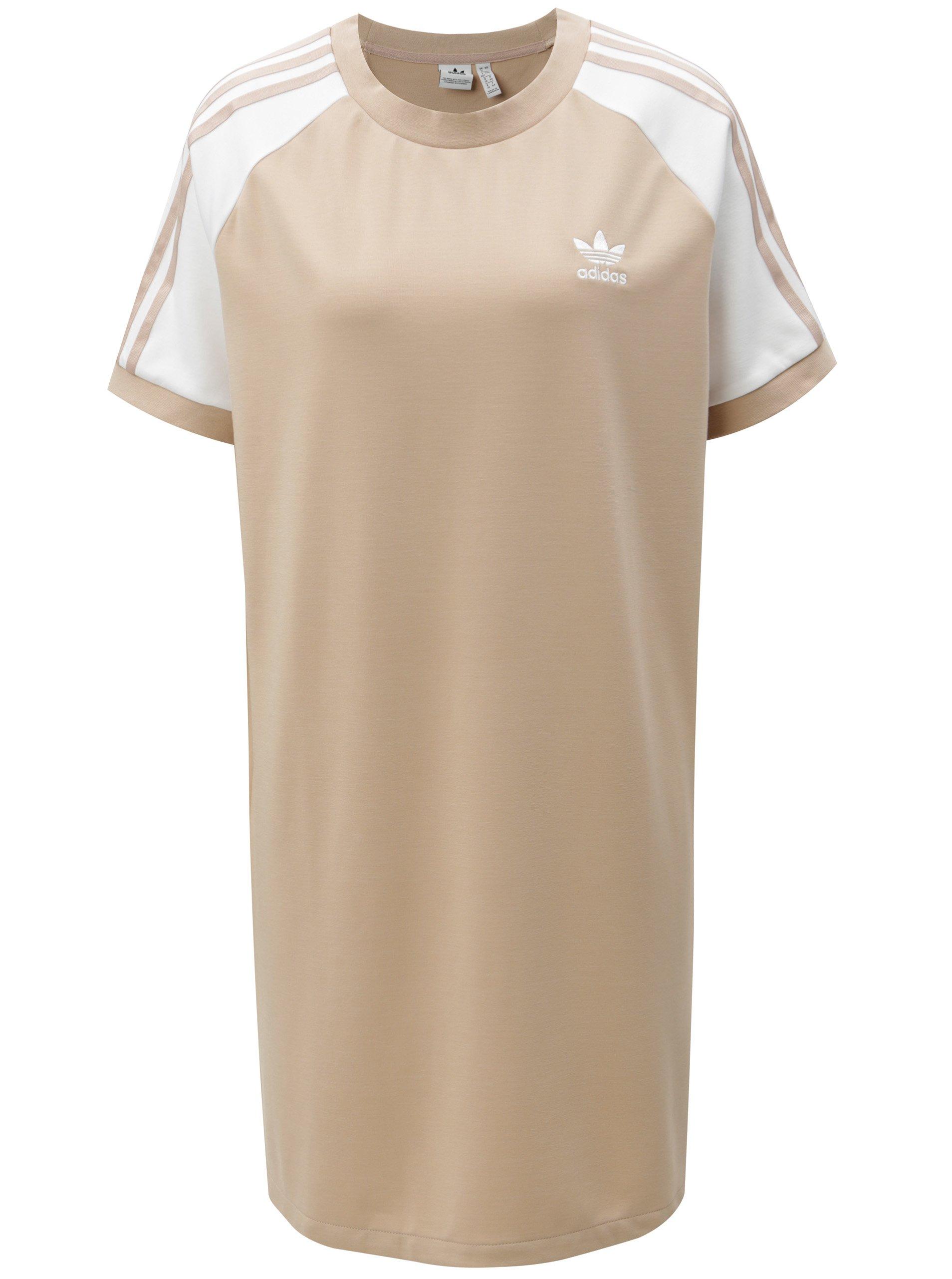 Béžové dámske šaty adidas Originals  ce1f0171f4