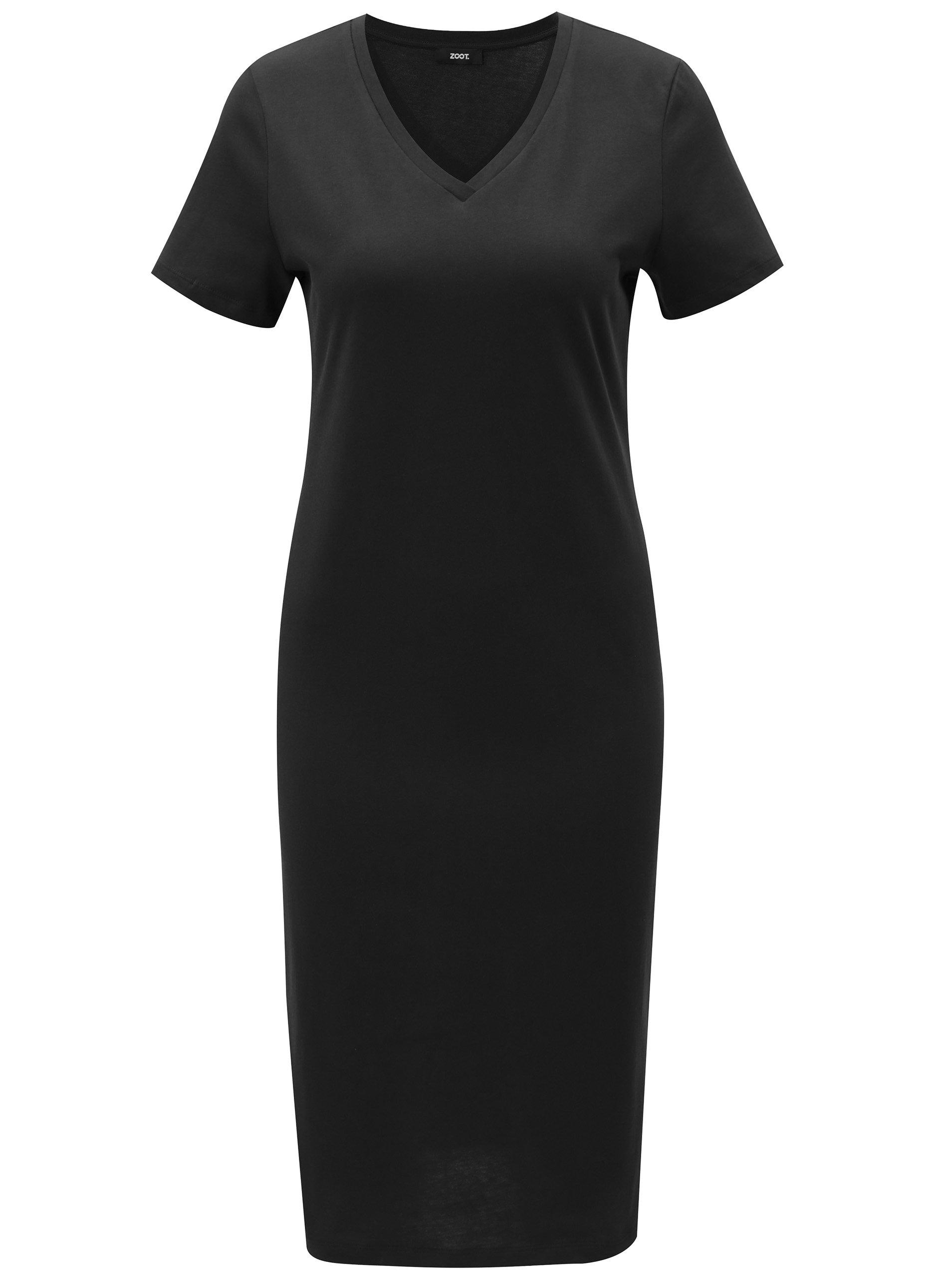 19fe56c3c601 Čierne šaty s krátkym rukávom ZOOT