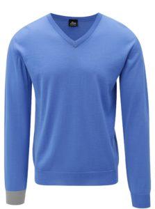 Modrý sveter z merino vlny Live Sweaters