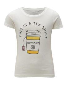 Krémové dievčenské tričko LIMITED by name it Kamma