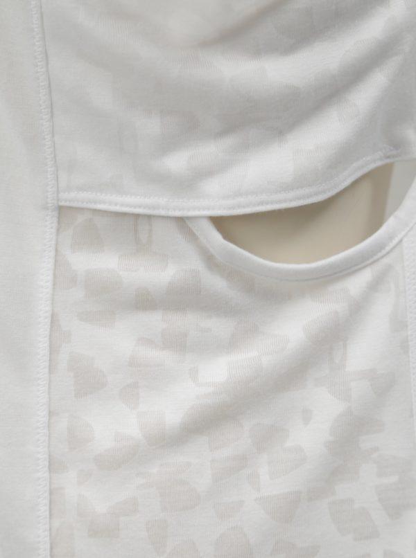 Biele dámske tielko s prestrihmi na bokoch Under Armour