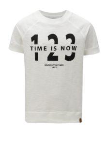 Krémové chlapčenské tričko s potlačou LIMITED by name it Ken