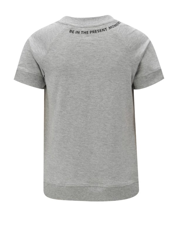 Sivé chlapčenské melírované tričko s potlačou LIMITED by name it Ken