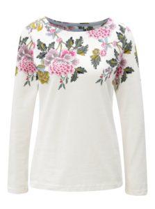Krémové dámske kvetované tričko Tom Joule Harbour