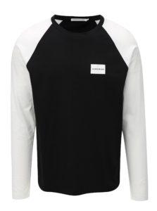Čierne pánske tričko s dlhým rukávom Calvin Klein Jeans