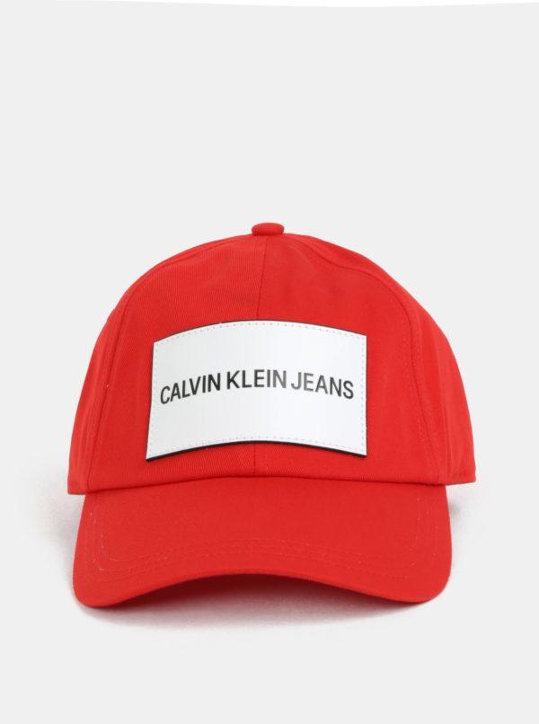 f5429e22e Červená dámska šiltovka s koženou nášivkou Calvin Klein Jeans | Moda.sk