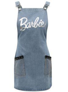 Svetlomodré rifľové šaty s trakmi a strapcami MISSGUIDED Barbie