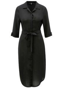Čierne košeľové šaty s 3/4 rukávom MISSGUIDED