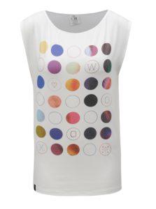 Biele tričko s farebnými bodkami WOOX Punctatus Albus