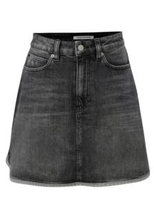 Sivá rifľová minisukňa Calvin Klein Jeans
